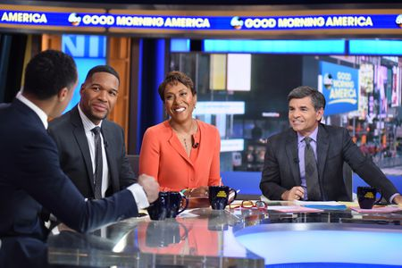 TJ HOLMES, MICHAEL STRAHAN, ROBIN ROBERTS, GEORGE STEPHANOPOULOS