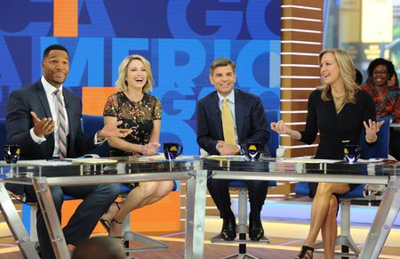 MICHAEL STRAHAN, AMY ROBACH, GEORGE STEPHANOPOULOS, LARA SPENCER