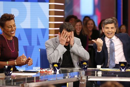 ROBIN ROBERTS, CHARLIE SHEEN, GEORGE STEPHANOPOULOS