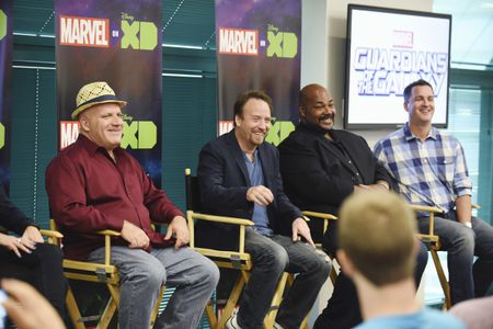 DAVID SOBOLOV, TREVOR DEVALL, KEVIN MICHAEL RICHARDSON, STEVE WACKER (VP, CURRENT SERIES, MARVEL ANIMATION STUDIOS)