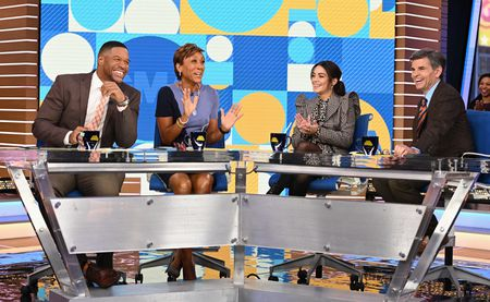MICHAEL STRAHAN, ROBIN ROBERTS, VANESSA HUDGENS, GEORGE STEPHANOPOULOS