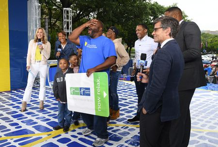 LARA SPENCER, ROBIN ROBERTS, CHARLES REYES AND FAMILY, MAYOR JIM KENNEY, TJ HOLMES, GEORGE STEPHANOPOULOS, MICHAEL STRAHAN