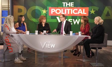 WHOOPI GOLDBERG, ABBY HUNTSMAN, JOY BEHAR, JONATHAN KARL, SUNNY HOSTIN