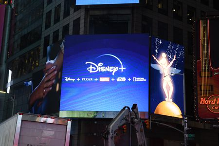 DISNEY + SIGNAGE IN TIMES SQUARE