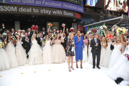 AMY ROBACH, ROBIN ROBERTS, GEORGE STEPHANOPOULOS, BRIDES AND GROOMS
