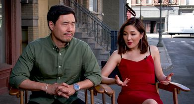"01. Constance Wu and Randall Park, ""Fresh Off the Boat"" On the TGIF promo shoot"