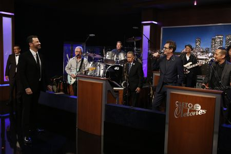 DICKY BARRET, JIMMY KIMMEL, CLETO AND THE CLETONES, HUEY LEWIS