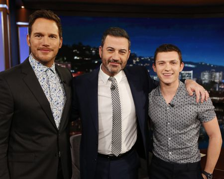 CHRIS PRATT, JIMMY KIMMEL, TOM HOLLAND