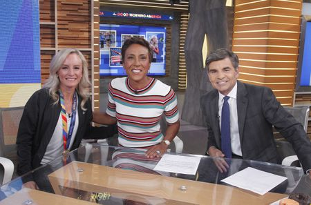 SHALANE FLANAGAN, ROBIN ROBERTS, GEORGE STEPHANOPOULOS