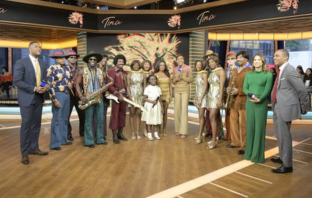 MICHAEL STRAHAN, CAST OF TINA: THE TINA TURNER BROADWAY MUSICAL, ROBIN ROBERTS, GINGER ZEE, TJ HOLMES