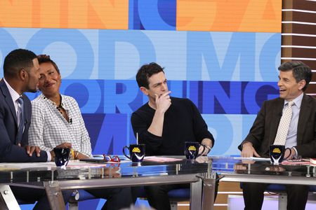 MICHAEL STRAHAN, ROBIN ROBERTS, BJ NOVAK, GEORGE STEPHANOPOULOS