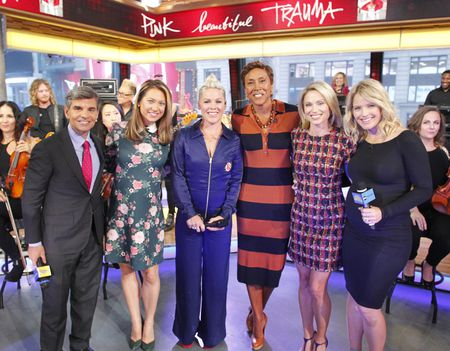 GEORGE STEPHANOPOULOS, GINGER ZEE, PINK, ROBIN ROBERTS, AMY ROBACH, SARA HAINES