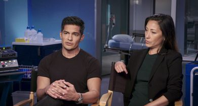"07. Nicholas Gonzalez, ""Dr. Neil Melendez"", Christina Chang, ""Dr. Audrey Lim"", On where their characters pick up in season 3"