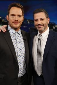 CHRIS PRATT, JIMMY KIMMEL
