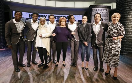 CAST OF AIN'T TOO PROUD, WHOOPI GOLDBERG, JOY BEHAR, ABBY HUNTSMAN, SUNNY HOSTIN