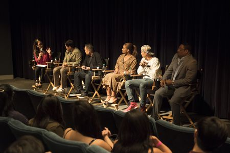 MAY LEE , RANDALL PARK, MELVIN MAR (EXECUTIVE PRODUCER), KIMRIE LEWIS, JAKE CHOI, CEDRIC YARBROUGH