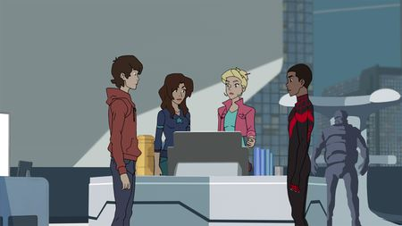 PETER PARKER, ANYA CORAZON, GWEN STACY, MILES MORALES