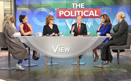 WHOOPI GOLDBERG, ABBY HUNTSMAN, JOY BEHAR, MICHAEL BLOOMBERG, SUNNY HOSTIN, MEGHAN MCCAIN