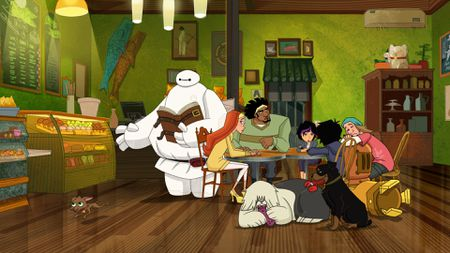 BAYMAX, HONEY LEMON, WASABI, HIRO, GO GO, FRED