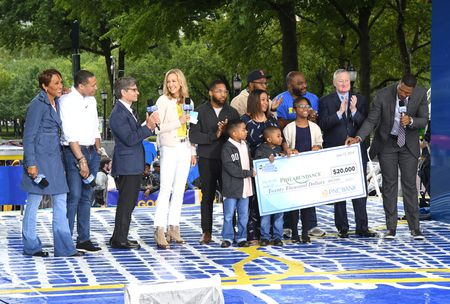 ROBIN ROBERTS, TJ HOLMES, GEORGE STEPHANOPOULOS,  LARA SPENCER, CHARLES REYES AND FAMILY, MAYOR JIM KENNEY,  MICHAEL STRAHAN