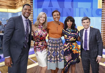 MICHAEL STRAHAN, LARA SPENCER, ROBIN ROBERTS, KERRY WASHINGTON, GEORGE STEPHANOPOULOS