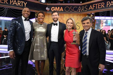 MICHAEL STRAHAN, ROBIN ROBERTS, SCOTT ROGOWSKY, AMY ROBACH, GEORGE STEPHANOPOULOS