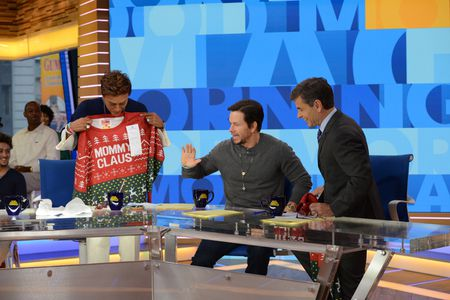 ROBIN ROBERTS, MARK WAHLBERG, GEORGE STEPHANOPOULOS