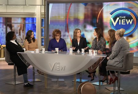 WHOOPI GOLDBERG, ABBY HUNTSMAN, JOY BEHAR, ROBIN POGREBIN, KATE KELLY, SUNNY HOSTIN, MEGHAN MCCAIN