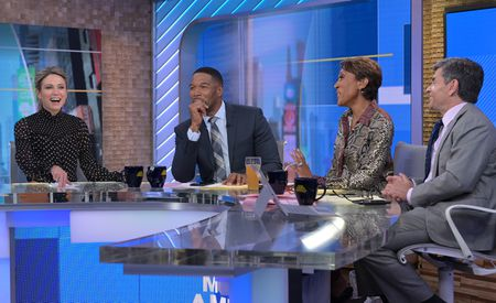AMY ROBACH, MICHAEL STRAHAN, ROBIN ROBERTS, GEORGE STEPHANOPOULOS