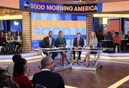 MICHAEL STRAHAN, ROBIN ROBERTS, GEORGE STEPHANOPOULOS, GINGER ZEE, LARA SPENCER