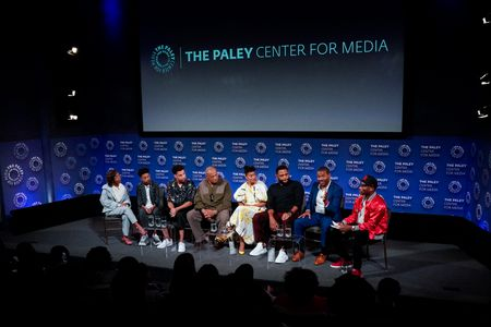 MARSAI MARTIN, MILES BROWN, MARCUS SCRIBNER, LAURENCE FISHBURNE, TRACEE ELLIS ROSS, ANTHONY ANDERSON, EXECUTIVE PRODUCER COURTNEY LILLY, CHARLAMAGNE THA GOD