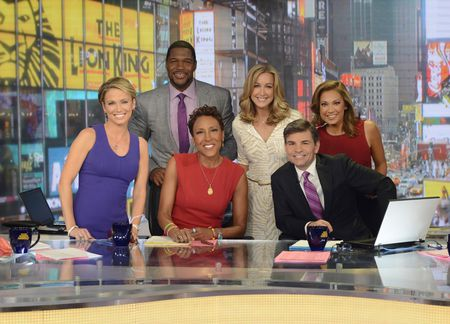 AMY ROBACH, MICHAEL STRAHAN, ROBIN ROBERTS, LARA SPENCER, GEORGE STEPHANOPOULOS, GINGER ZEE