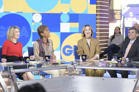 AMY ROBACH, ROBIN ROBERTS, ROSE BYRNE, GEORGE STEPHANOPOULOS