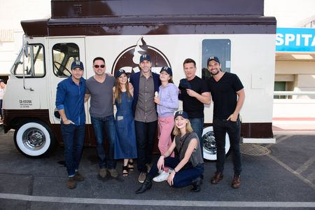 RYAN CARNES, WILLIAM DEVRY, TAMARA BRAUN, EXECUTIVE PRODUCER FRANK VALENTINI, EDEN MCCOY, HAYLEY ERIN, STEVE BURTON, JOSH SWICKARD