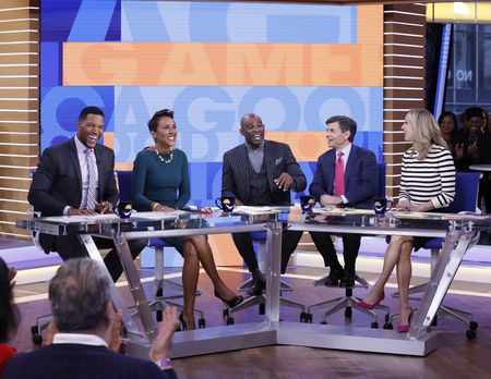 MICHAEL STRAHAN, ROBIN ROBERTS, DEION SANDERS, GEORGE STEPHANOPOULOS, LARA SPENCER