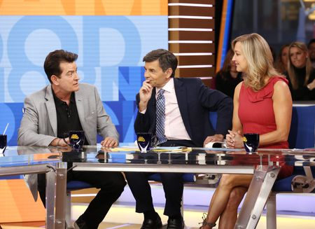 CHARLIE SHEEN, GEORGE STEPHANOPOULOS, LARA SPENCER