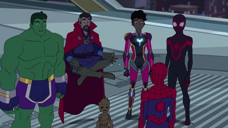 THE TOTALLY AWESOME HULK, DOCTOR STRANGE, SPIDER-MAN, IRONHEART, KID ARACHNID