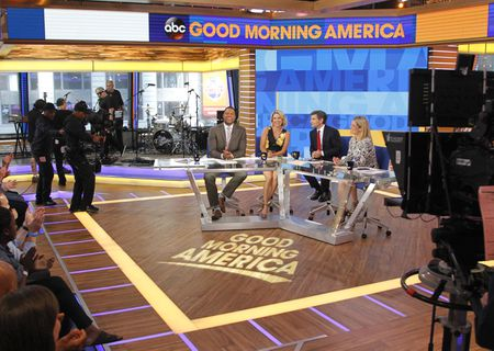 MICHAEL STRAHAN, AMY ROBACH, GEORGE STEPHANOPOULOS, SARA HAINES