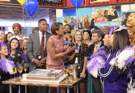 MICHAEL STRAHAN, ROBIN ROBERTS, AMY ROBABCH, GEORGE STEPHANOPOULOS