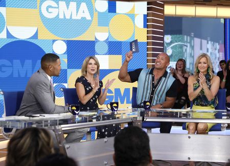 MICHAEL STRAHAN, AMY ROBACH, DWYANE JOHNSON, LARA SPENCER