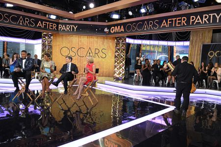 MICHAEL STRAHAN, ROBIN ROBERTS, GEORGE STEPHANOPOULOS, AMY ROBACH