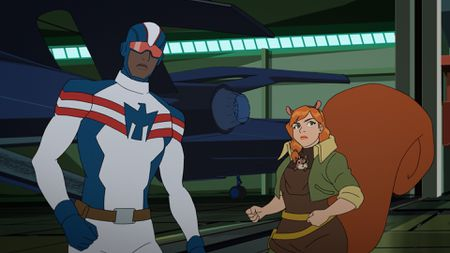 PATRIOT, TIPPY-TOE, SQUIRREL GIRL