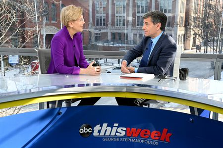 ELIZABETH WARREN, GEORGE STEPHANOPOULOS
