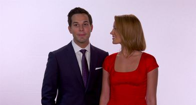 Mickey's 90th Spectacular EPK - 27. Anna Camp and Skylar Astin, Presenters, On Mickey's 90th Spectacular