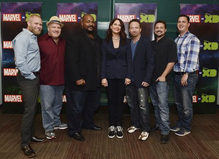 CORT LANE (VP, ANIMATION DEVELOPMENT & PARTNERSHIPS, MARVEL ANIMATION STUDIOS), DAVID SOBOLOV, KEVIN MICHAEL RICHARDSON, VANESSA MARSHALL, TREVOR DEVALL, WILL FRIEDLE, STEVE WACKER (VP, CURRENT SERIES, MARVEL ANIMATION STUDIOS)