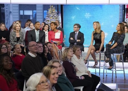 AMY ROBACH, MICHAEL STRAHAN, ROBIN ROBERTS, GEORGE STEPHANOPOULOS, LARA SPENCER, GINGER ZEE