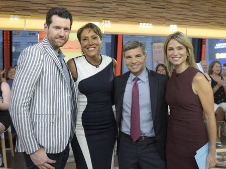 BILLY EICHNER, ROBIN ROBERTS, GEORGE STEPHANOPOULOS, AMY ROBACH