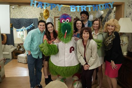 SAM LERNER, HAYLEY ORRANTIA, PHILLIE PHANATIC, STEPHANIE COURTNEY, CEDRIC YARBROUGH, MINDY STERLING, JENNIFER IRWIN, WENDI MCLENDON-COVEY