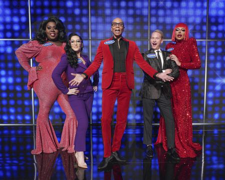 LATRICE ROYALE, MICHELLE VISAGE, RUPAUL, CARSON KRESSLEY, RAVEN - DAVID PETRUSCHIN