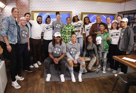 ELENA DELLE DONNE, COACH MIKE THIBAULT, MARCUS SCRIBNER, ANTHONY ANDERSON, TRACEE ELLIS ROSS, MARSAI MARTIN, LAURENCE FISHBURNE, MILES BROWN, KRISTI TOLIVER